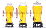 無鉛加厚泡酒瓶帶龍頭人蔘泡酒罈玻璃釀酒罐酒桶酒缸10斤20斤