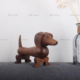 北欧家居摆件 创意腊肠狗摆饰 家装工艺礼品