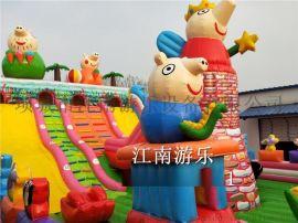 新款小猪佩琪充气滑梯充气城堡儿童气模玩具厂家直销