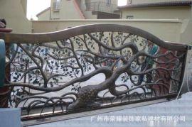 铁艺别墅大门 树型铁门 中式铁门  欧式新款铁门