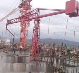 甘肃平凉市18米混凝土布料机施工案例