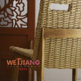 工厂批发实木餐椅藤编椅子