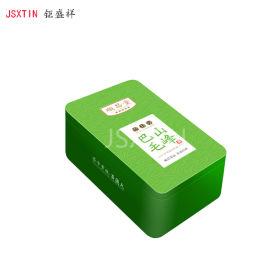 绿毛峰茶铁盒 长方形绿茶马口铁包装铁盒