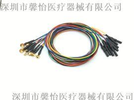 厂家直销脑电极线Φ10mm铸造电极 铜镀金