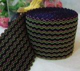 丈根帶 彈性水波紋波浪紋鉤編鬆緊帶 高彈束腰帶橡筋