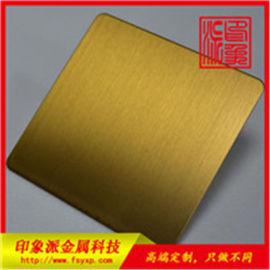 钛金不锈钢拉丝板 304发纹钛金防指纹不锈钢