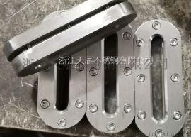不锈钢304椭圆长条液位计,板式焊接视窗