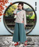 厂家来图来样定制加工 唐装旗袍古装套装  棉麻女装 工作服 交货快