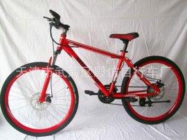 厂家批发学生26寸21速山地变速自行车,双碟刹山地车,山地车批发