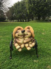 树脂动物工艺品 卡通刺猬雕塑 园林景观雕塑
