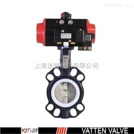 德国VATTEND671X-10\16 上海气动蝶阀生产厂家 德国气动衬 对夹蝶阀脱