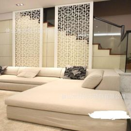 酒店通用镀色屏风加工定制激光镂空不锈钢简易屏风