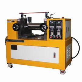 小型双辊塑炼机测试预热分散效果,实验两辊炼胶机