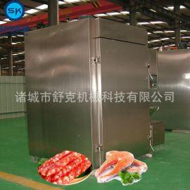 大型烟熏炉 腊肠烘烤箱 500公斤出口香肠烟熏炉厂家包邮三包服务