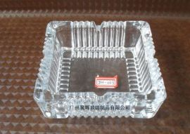 透明方形玻璃烟灰缸(JH-023)