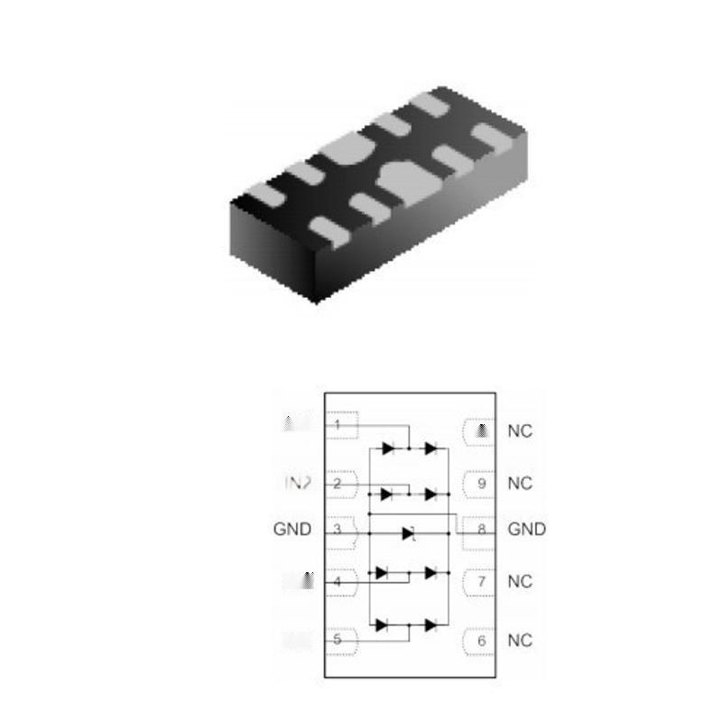 RCLAMP0524P ESD 防靜電二極體 集電通品牌靜電保護器件廠家直銷