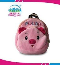 **喜爱动物粉红小猪女孩小书包毛绒玩具儿童背包厂家新品直销