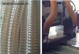 厂家生产供应雕刻机用抽吸粉尘专用钢丝伸缩PU管