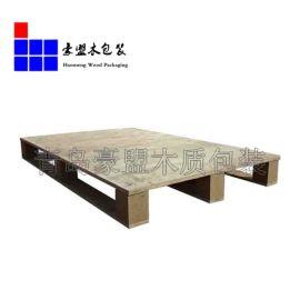 低价供应出口货物运输木托盘 青岛黄岛区四面进叉单面胶合板