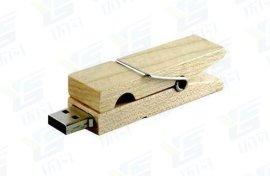 木质夹子u盘 加密随身盘 个性闪存盘