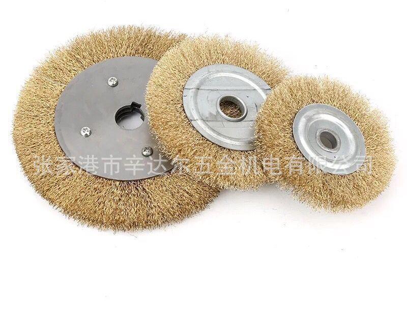 廠家直銷平行鋼絲輪鍍銅100-300除鏽除漆除毛刺金屬不鏽鋼打磨
