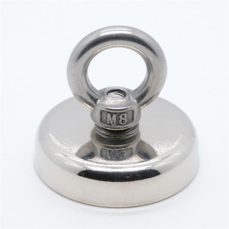 钕铁硼强力磁铁吸铁石高强度圆形吊坠磁钢大号打捞磁王