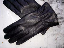 真皮男式手套。羊皮手套。光板手套,骑车手套