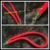 礼宾柱挂绳红绳绒布栏杆绳钢扣头迎宾柱绳子红蓝黑围栏绒绳隔离绳