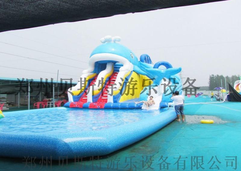 山西充气室外支架游泳池真的是超级好玩