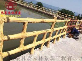 贵州实木栏杆厂家,公园栏杆河道护栏定制厂家