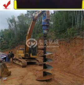 小挖掘机钻孔机、钻土机、螺旋钻孔机电线杆工程