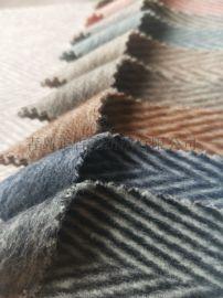 秋冬羊绒羊毛面料毛呢毛料 山东毛料