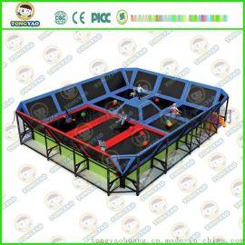 幼儿园儿童室内大型蹦蹦床蹦极健身器材,网面跳跳床