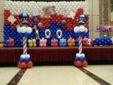 南充宝宝宴气球布置、南充满月宴气球制作、南充百日宴气球、南充气球创意制作151-8297-8140