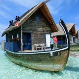 房船水上賓館哪余有的賣?楚歌木船出售湖北山東馬爾地夫船屋木質房船豪華水上賓館