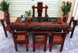 老船木傢俱龍骨茶桌椅子組合原木茶臺實木功夫茶几現代中式厚板茶藝桌
