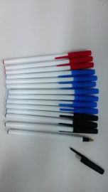 md-928简易塑料插套广告印字圆珠笔