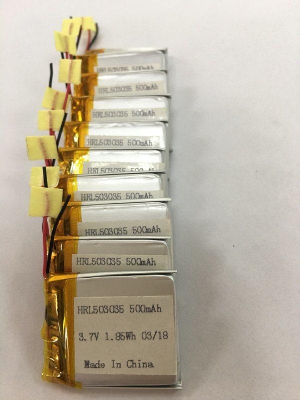 锂电池厂家 503035 500mah 3.7V