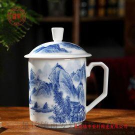 景德镇手绘茶杯 手绘青花瓷办公茶杯