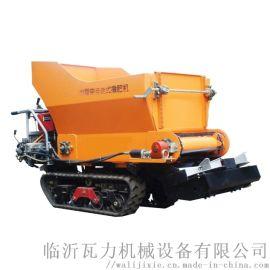 柴油自走式大棚土肥有机肥抛洒撒肥器