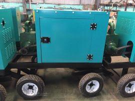 常柴单缸柴油机自吸水泵带移动拖车防雨罩