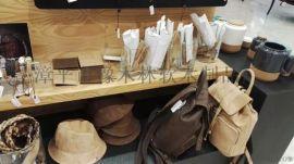 天然水松软木布革卷材花纹软木革鞋材包包人造革真木皮橡树皮