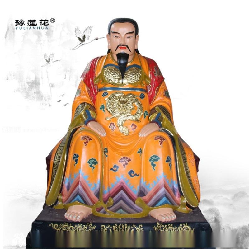 真武大帝雕像图片 无量祖师雕塑佛像 祖师爷神像厂家
