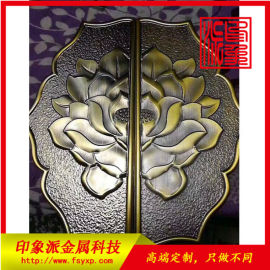 供应出口蚀刻镀铜不锈钢拉手定制厂家