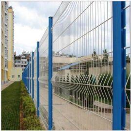 三角折弯桃型柱护栏网小区护栏网 机场护栏网 围栏网