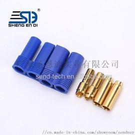 直销EC5香蕉插头配蓝色护套/耐电流