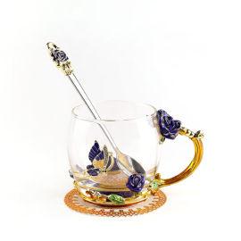 珐琅彩玻璃咖啡杯水杯