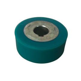 压胶机绿色无槽小胶轮 压胶机胶轮 雨衣压胶机胶轮