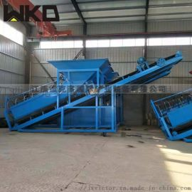 安徽大型筛沙机厂家直供 移动折叠式筛沙一体机