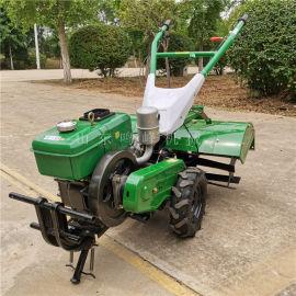 小型手扶果园开沟旋耕机,柴油水冷四驱微耕机